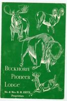 Older Menu-Denver Colorado-Buckhorn Pioneer Lodge-Zietz Family Proprietors