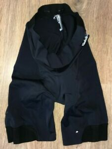 Assos H.Laalalai S7 womens black padded cycling shorts size L