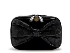 Ylang Ylang Black Bowknot Japanese Bling Make Up Cosmetic Travel Organizer Bag