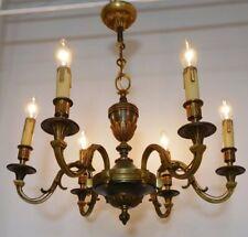 Stunning French Antique 6 Light Empire Chandelier in Bronze