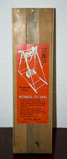 """1950'S RCR MFG CO 26 1/2"""" GIANT SIZE MECHANICAL TOY SWING SEALED IN WOOD BOX MIB"""