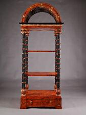 O-Sam-50 antikes Holz Messing Regal Gestell Etagere im Donau-Monarchie Stil