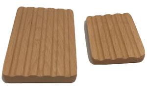 Basin Fresh Soap Dish Wood Set of Two New