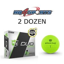 2018 Wilson Staff Duo Soft Optix Lectric Lime Golf Balls - Matte Green 2 Dozen