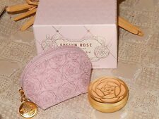 Crabtree & Evelyn Solid Perfume Compact *Evelyn Rose* with Rose Case New in Box