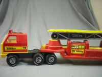 Vintage 1978 Pressed Steel Tonka Toys Hook And Ladder Fire Truck Red Classic