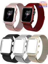 Apple Watch Series 6/5/4/3/2/1 Milanese Stainless Steel Watch Band Strap +Case