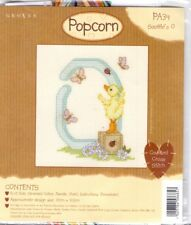 Popcorn Alphabet Counted Cross Stitch Kit PA34 Letter 0