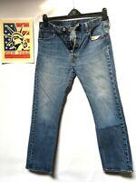 Levi's 501 Jeans Distressed Faded Hippie Boho Hobo punk Denim 34x29