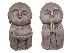"New 1pce Japanese 35cm Tall ""Jizo"" Divinity Garden Statue 2 Assorted Resin"