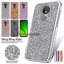 For Motorola Moto G7 Power/G7 Supra/Optimo Maxx Hybrid Bling Glitter Case Cover