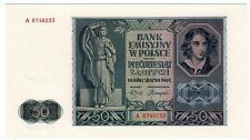 Pologne POLAND Billet 50 ZLOTYCH 1941 P102 WWII GERMAN OCCUPATION NEUF UNC