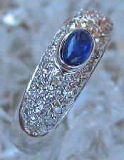 Brillant Ring in aus 14 585 Gold Ring mit Safir Saphir Ring Safire Weißgold Ring