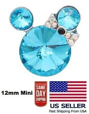 Mini Snap Jewelry Mouse Cartoon Fits 12mm Petite Ginger Style Charms Accessories