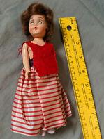 1950s PMA Jointed Doll Ginger Redhead Plastic Molded Arts Hard VTG