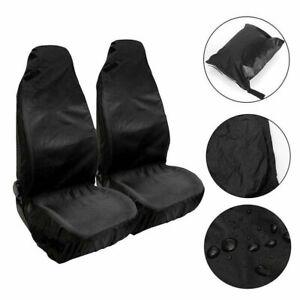 2X Coprisedile universale anteriore per auto nero impermeabile resistente
