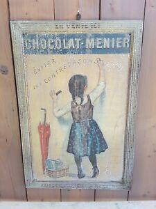 Tôle lithographiée chocolat Menier Firmin Bouisset