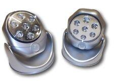 2 x SILVER LIBERTY MOTION SENSOR STAR LED XMAS LAMPS - BATTERY OPERATED - EL2139