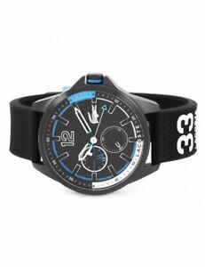 Lacoste 2010896 Men's Capbreton Black Chronograph Watch RRP£160 BRAND NEW IN BOX