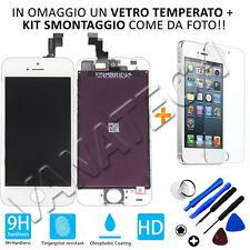 TOUCH SCREEN VETRO SCHERMO RETINA LCD DISPLAY CON FRAME PER IPHONE 5S BIANCO