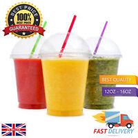 Milkshake Cups & FREE Lids!   12oz, 16oz   Smoothie/Party/Juice/Slush/Food 🔥🥤