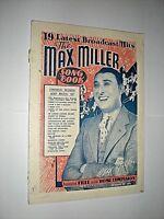 THE MAX MILLER SONG BOOK. 1938. MUSIC & LYRICS. MUSIC HALL. VARIETY. RADIO