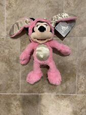 """New listing Disney Parks 12.5"""" Easter Bunny 2020 Plush Set Minnie Mouse Pink New With Tags"""