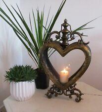 Stunning Unique Moroccan Antique Heart Candle Lantern Unusual Love Romantic