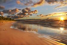 VLIES Fototapete-SUNSET BEACH-(1042V)-Meer Strand Küste Karibik Sonnenuntergang