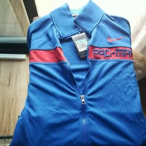 Nike Manny Pacquiao PAC-MAN Embroidered Warmup Track Jacket - Blue size medium