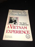 A Vietnam Experience : Ten Years of Reflection by James B. Stockdale-1st Ed-1984
