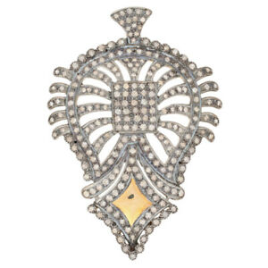 1.77ctw Single Cut Diamond Pendant - Silver, 14k Gold Plated, & Gold Plated