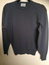 Men's Merino Lana de Cordero puente Glenbrae, gris oscuro, talla XS, RRP £ 95