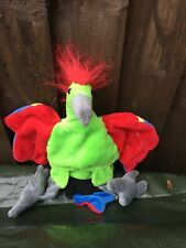 Child Size Brightly Coloured Parrot Hand Puppet Soft Toy