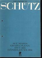 "Heinrich Schütz : "" AVE MARIA GRATIA PLENA "" SWV 334"