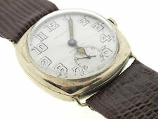 Tiffany & co. vintage watch, 19's/20's white Arabic numbers dial, lizard leather