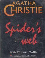 Agatha Christie Spider's Web 4 Cassette Audio Book Cassette Unabridged Crime