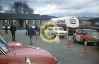 Photo Service Petrol Halt MK2 Cortina & Mini Burmah Castrol Rally Circa 1972