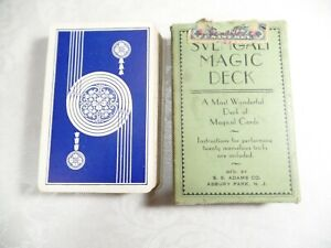 Svengali Magic Deck Adams Co 1940 Tax Revenue Stamp Missing Cards? Instructions