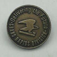Delivering The Future Grand Rapids Division Michigan Lapel Hat Pin Not Sure  R3