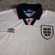 Vintage Retro 1993-95 England Umbro Home National Football Shirt Jersey Top XL