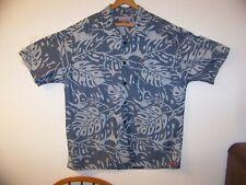 Quicksilver Mens Aloha Shirt Size L  TG Korea Rockabilly Shipping Included!
