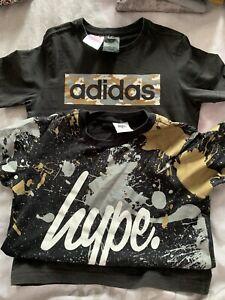 Bundle X2 HYPE boys short sleeve t-shirt age 9-10 years/Adidas T Shirt 9-10