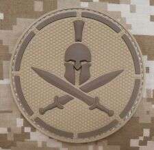 3D PVC SPARTAN TACTICAL ARMY ISAF MILSPEC DESERT VELCRO® BRAND FASTENER PATCH