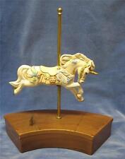 "Vintage Carousel Horse Music Box Plays ""Skaters Waltz"" Alberta's Molds Inc 1989"