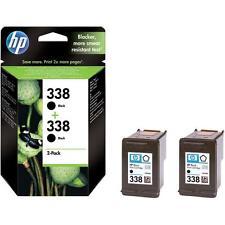 2x ORIGINAL HP 338 TINTE PATRONEN PSC 1500 1510 1600 1610 2355 2610 Drucker Set