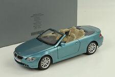 BMW e64 6er 6 Series Cabrio Convertible LIGHT BLUE METALLIC 1:18 KYOSHO spacciatore
