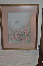 """HUMMER Hummingbird Sandy Madden Walker Original PRINT 21 1/4"""" X 17 1/4"""" PICTURE"""