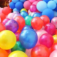 100Pcs Colorful Pearl Latex Balloon Celebration Party Wedding Birthday 10inch