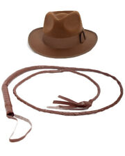 Indiana Jones Brown Hat And Whip One Size